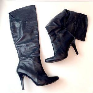 Aldo Gordo Black High Heel Boots, Size 41